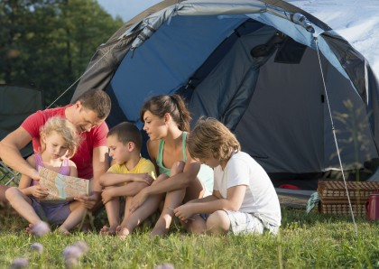 Family Camping in Nature.