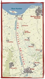Ancholme Valley Way map
